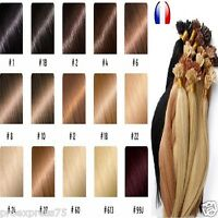 50 100 150 EXTENSIONS POSE A CHAUD CHEVEUX 100% NATURELS REMY HAIR 49 CM 0.5-1 g