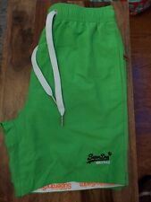 Men Superdry Premium Water Polo Swim Shorts-greenSize M Medium Green