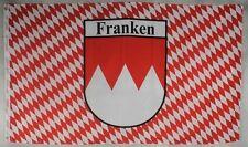 Franken mit Raute Flagge 150 x 90 cm wetterfest Fahne Ösen Außen Hissflagge Flag