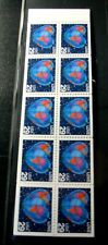 US Booklet Panes  Stamps Scott# 2536a Love 1991 MNH Pane of 10 Never Folded L285