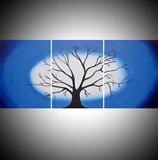 "tree landscape art Canvas Pictures 48""X20"" Art Wall Hanging original wood beauti"