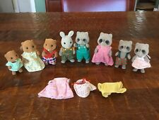 Vintage 1985 Calico Critters Sylvanian Families Epoch Racoons Beavers Bunny