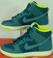 New Womens 7.5 NIKE Dunk Hi Skinny Print Teal Zebra Shoes $85 543242-300