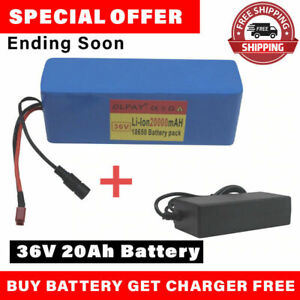 36v 20ah E-bike Li-ion Battery Volt Rechargeable Bicycle 500w Electric+Charger ✅