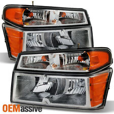 04-12 Colorado Xtreme Chrome Bezel Headlights +Corner Lights Lamps Left+Right