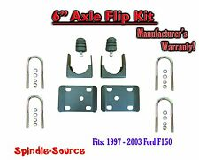 "1997 - 2003 Ford F150 F-150 6"" Inch Lowering Drop REAR AXLE FLIP KIT U-bolts"
