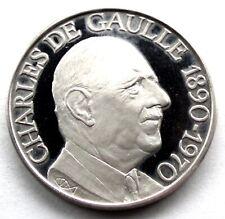 CHARLES DE GAULLE 1890-1970 BU Silver Proof Medal 30mm 12g R5.3