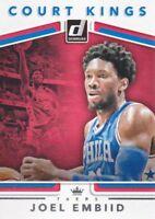 2017-18 Donruss Court Kings #2 Joel Embiid Philadelphia 76ers