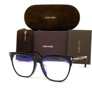 Tom Ford FT5599F -B 001 Black / Blue Block 53mm Eyeglasses TF5599F -B