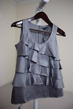 Gap 1090% Polyester Gray Tiered Sleeveless Top Size - Small