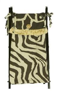 Hamper Bag with Frame Baby Boy Girl Animal Zoo Jungle Giraffe Zebra Brown Tan