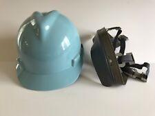 MSA 463111 Blue V-Gard Slotted Hard Hat Protective Cap Staz-On Suspension