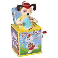 Schylling Toys Polka Puppy Jack in the Box #PUPJB - Pastel, Pup, Dog, Spot, Baby