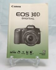 Canon EOS 30D Digital Camera Instruction Manual - English