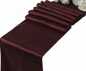"""10 Satin Table Runners Chair Swag Wedding Party Decoration 12""""X108"""" - FREE SHIP"""