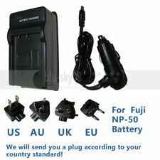Travel/Wall NP-50 battery Charger For Fujifilm FinePix X20 XF1 XP100 XP110 XP150