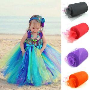 "TUTU TULLE ROLL - Craft Fabric Soft 100% Nylon Netting- 2"" Wide x 25yrds"