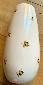 Botanical Discovery White Ceramic Bumble Bee Vase. ideal gift