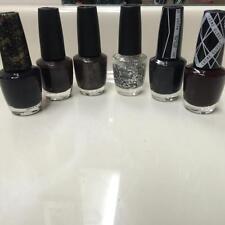 OPI Nail Polish Dark Shades & Glitter  Lot Set of 6 NEW FS  Some Disc & HTF  A