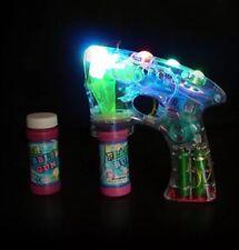 Bubble Ray Gun Fun Light Up Flashing LED Bubble SGM Kids Outdoor Garden Toy