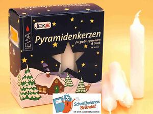 Pyramidenkerzen Weiß PK 18/100 EWA JEKA Ebersbacher Deutsche Qualität Kerze Baum