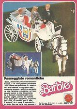 X0633 La Carrozza di BARBIE - Mattel - Pubblicità del 1983 - Vintage advertising