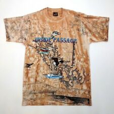 Inside Passage T Shirt Size M Adult Brown Inside Passage Map Sneaky Tees 1995