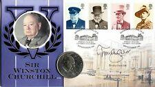 Benham SIGNED Coin Cover 1999 Sir Winston Churchill SIGNED TIMOTHY WEST