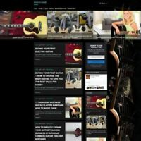 Fully Stocked GUITAR WEBSITE Business Website For Sale + Domain + Hosting + Help