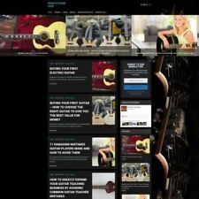 GUITAR STORE - Business Website For Sale Mobile Friendly Responsive Design