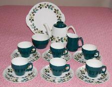 Vintage Barker Bros Royal Tudor Ware 22 Piece Blackberry Tea Set Incl Tea Pot.