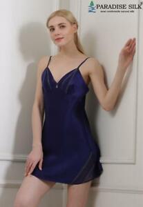 Pure Silk Womens Short Slip Nightie 1723