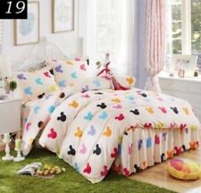 Unbranded Bedskirt with Four-Piece Items in Set Quilt Covers