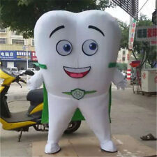 Advertising Tooth Mascot Costume Dental Care Outfit Adult Party Facny Dress Suit