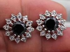 18K White Gold Filled - 7MM MYSTIC Topaz Zircon Rainbow Flower Earrings13 Color