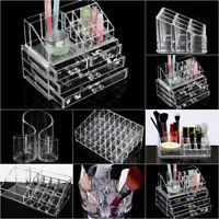 Cosmetic Organizer Clear Acrylic Makeup Drawers Holder Case Box Jewelry Storager