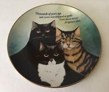 "Danbury Mint "" Cattitude "" Cat Porcelain Plate by Maren Schaffner 8 1/4�"