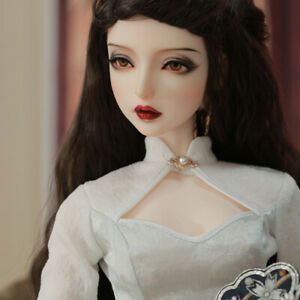 New White Dress clothes Hair shoes For 1/3 BJD Doll Kosaka