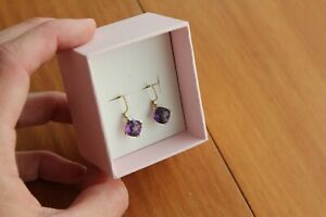 Prouds Amethyst Earrings