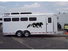 Running Horses Stickers for Horse Trailer or Truck Windows Vinyl Decals Set of 2