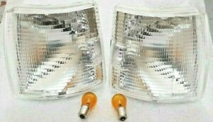 T4 TRANSPORTER CAMPER VAN FRONT CLEAR INDICATOR UNITS PAIR WITH BULBS