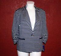 $99 NWT PETER NYGARD  Women Sportifchic Navy/White Jacket Size 16w