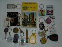 Keychain & other Vintage Souvenir Lot of 20 Pieces Disney, Company Advertising +