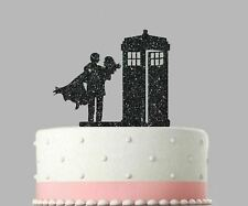 Wedding Acrylic Cake Decoration Doctor Who Tardis Glitter Topper.300