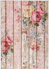 Rice Paper for Decoupage Decopatch Scrapbook Craft Sheet Fence with Roses