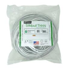 Southwire 100 ft. 6 White Stranded CU SIMpull THHN Wire