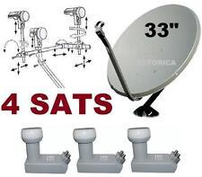 """33"""" SUPER SATELLITE DISH NETWORK LNB 110-118-119-129  HD ANIK F3 HD FTA 118 LNB"""