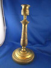 ancien flambeau bougeoir de table 19e XIXe bronze doré ciselé style empire