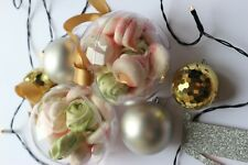 10 Clear Plastic Craft Ball Acrylic Transparent Sphere Bauble christmas Gift
