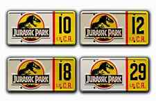 Jurassic Park Jeep Wrangler | #10 #12 #18 #29 | STAMPED Prop License Plate Combo
